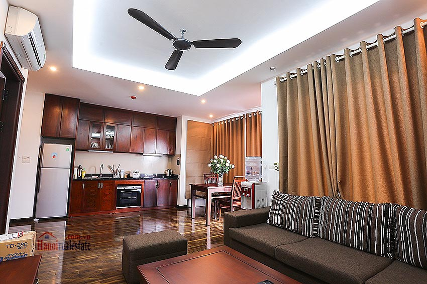 Lovely 01BR apartment at Hoang Quoc Viet, balcony 4