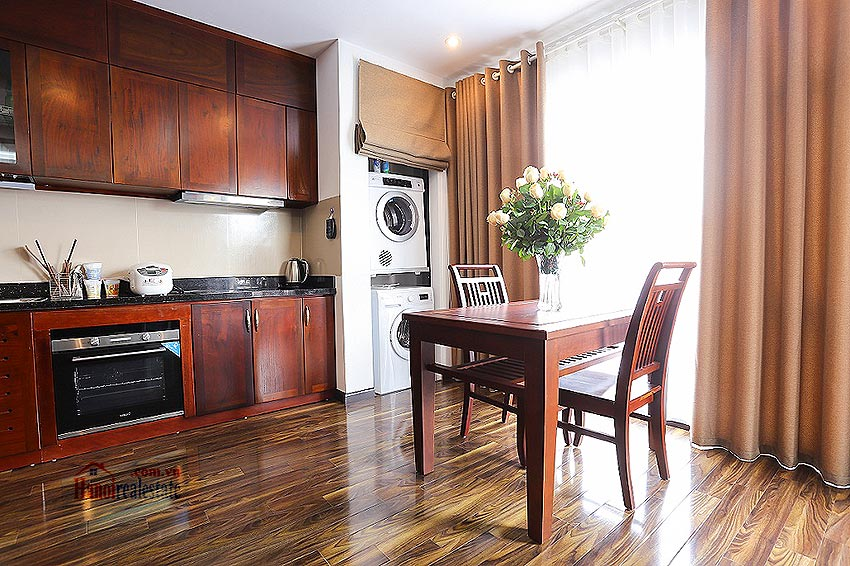 Lovely 01BR apartment at Hoang Quoc Viet, balcony 5