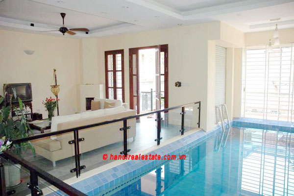 Lovely & Spacious House with swimming pool & car for rent in Tay Ho 2