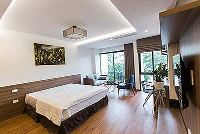 Lovely studio apartment on Dang Thai Mai, balcony with greenery view