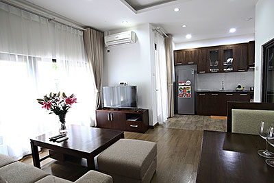 Luxurious serviced 01BR apartment for rent in Cau Giay, close to Keangnam