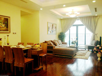 Luxury furnished apartment at Royal City Hanoi for rent, 3 bedrooms