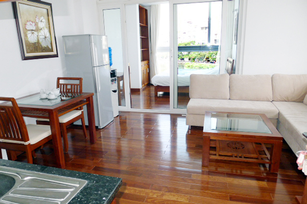 Luxury Apartment beside Truc Bach Lake for rent, modern style furnished