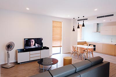Minimize style 02BRs serviced apartment in Tay Ho, bright and airy