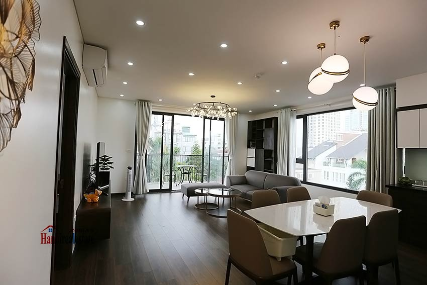 Modern 3-bedroom apartment to rent in Tay Ho with balcony & fully furnished 1