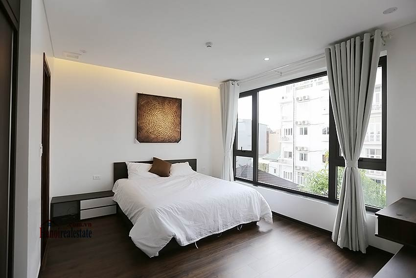 Modern 3-bedroom apartment to rent in Tay Ho with balcony & fully furnished 11