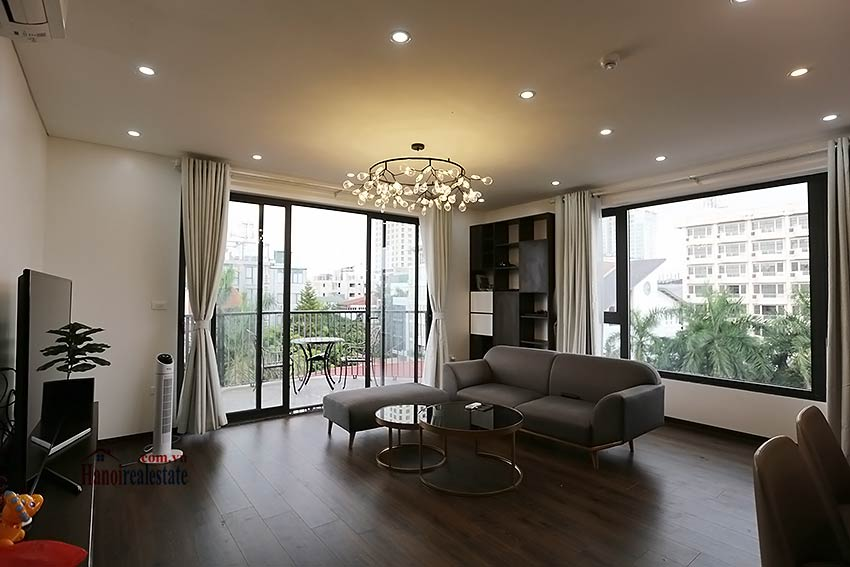 Modern 3-bedroom apartment to rent in Tay Ho with balcony & fully furnished 2