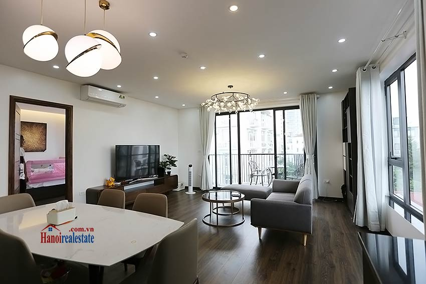 Modern 3-bedroom apartment to rent in Tay Ho with balcony & fully furnished 3