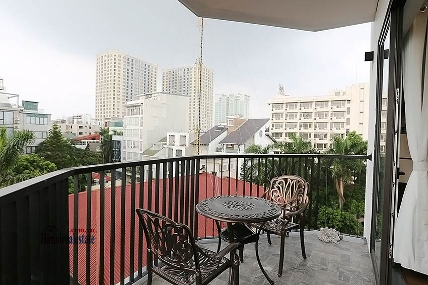 Modern 3-bedroom apartment to rent in Tay Ho with balcony & fully furnished 7