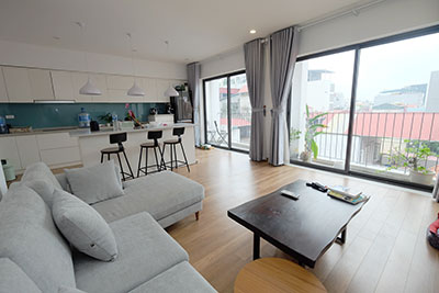 Modern 3-bedroom duplex apartment with big terrace in Tay Ho
