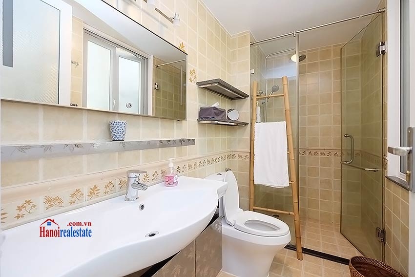 Modern furnished 2-bedroom house to lease in Hoan Kiem, close to French Embassy 12