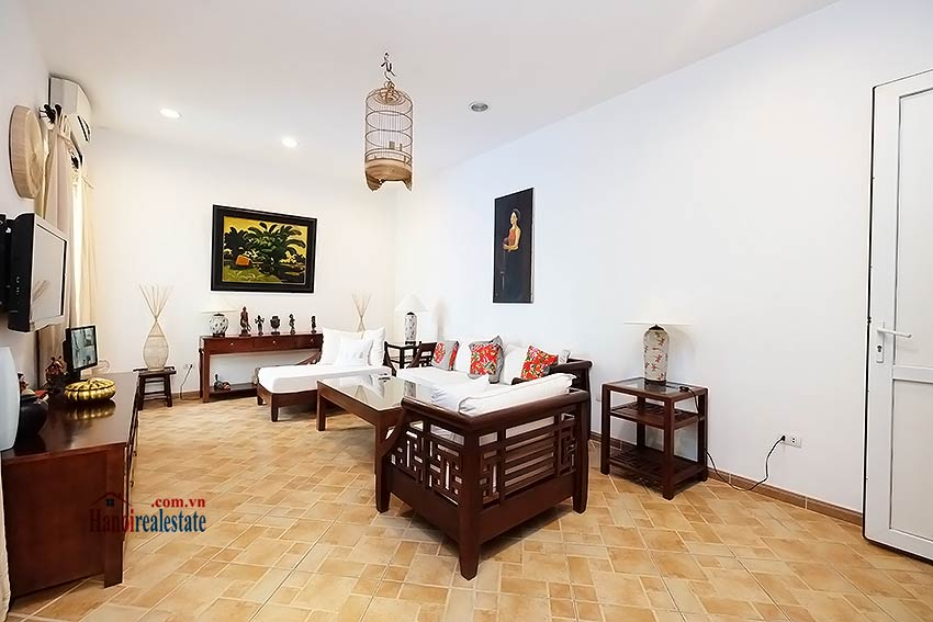 Modern furnished 2-bedroom house to lease in Hoan Kiem, close to French Embassy 3