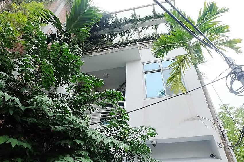 Modern house to let in Tay Ho Westlake with garden and top floor terrace 1