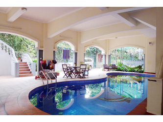 Modern Villa with pool in To Ngoc Van, Tay Ho, easy car access, Yard
