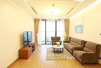 Modernly furnished apartment on high floor of M3 Tower, Metropolis