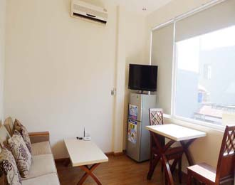 New and bright, serviced apartment for lease in Xuan Dieu