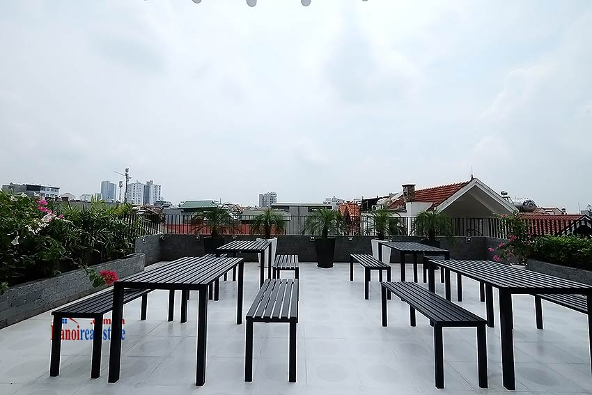 Nice terrace studio apartment in Tay Ho, Lac Long Quan street 16