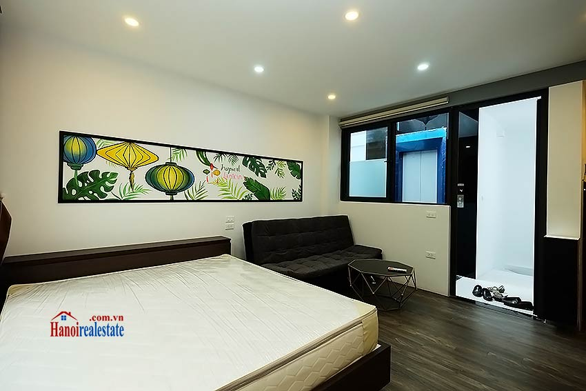 Nice terrace studio apartment in Tay Ho, Lac Long Quan street 5