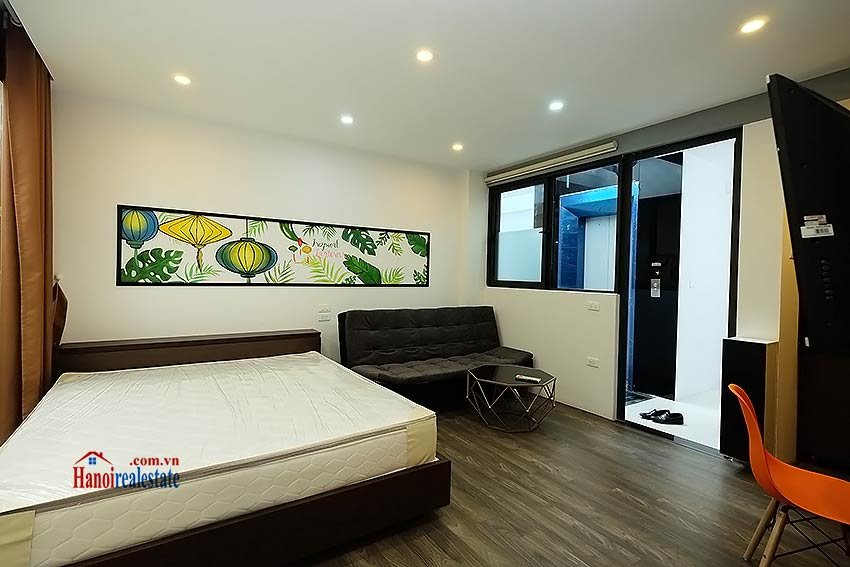 Nice terrace studio apartment in Tay Ho, Lac Long Quan street 7