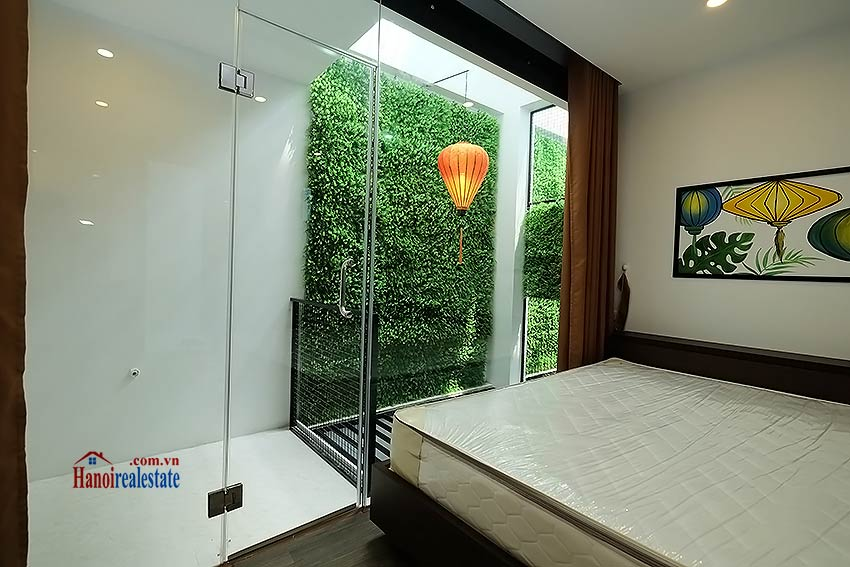 Nice terrace studio apartment in Tay Ho, Lac Long Quan street 8
