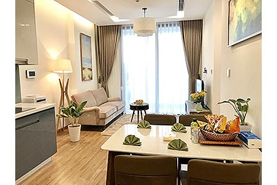 Nicely decorated serviced apartment in Vinhomes Metropolis