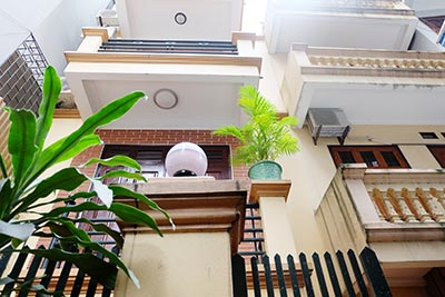 Open rooftop terrace, 04BRs house for rent on To Ngoc Van, partly furnished