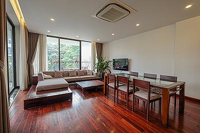 Open view 3-bedrooms apartment with swimming pool on Tay Ho Road