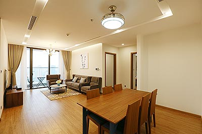 Open view Vinhomes Metropolis apartment on high floor, 3 beds