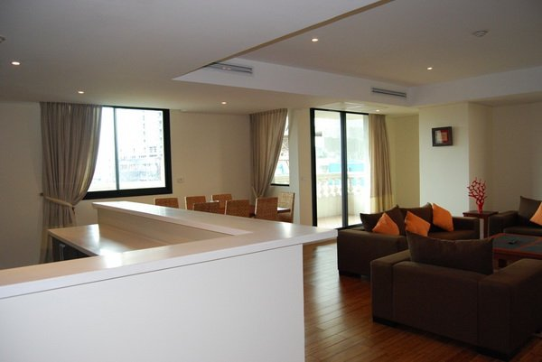 Serviced apartment at Pacific Place Hanoi, Lounge area