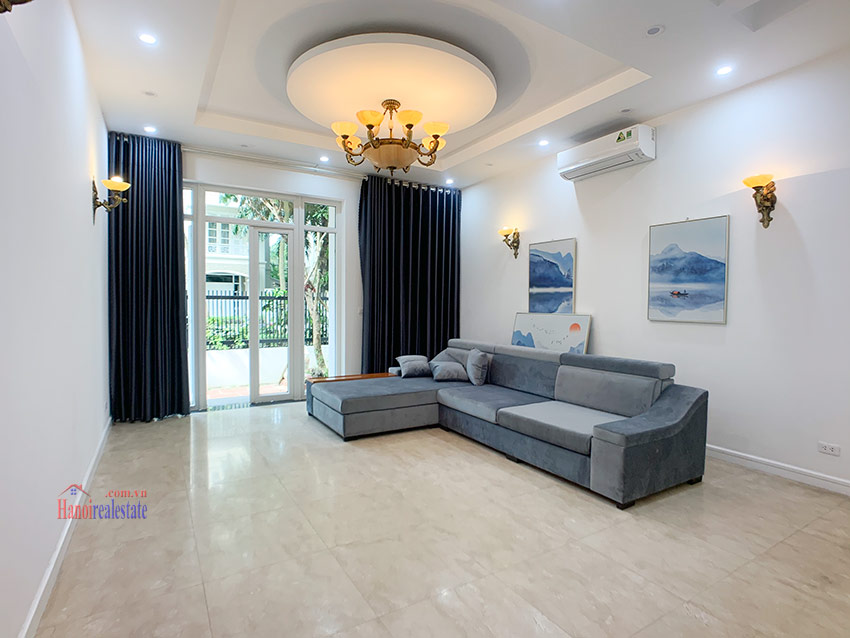 Partly furnished 05BRs house in T block Ciputra 2