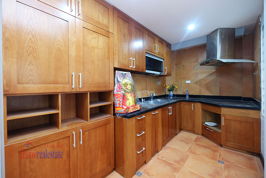 Partly furnished 4-bedroom house on Dang Thai Mai to rent 10