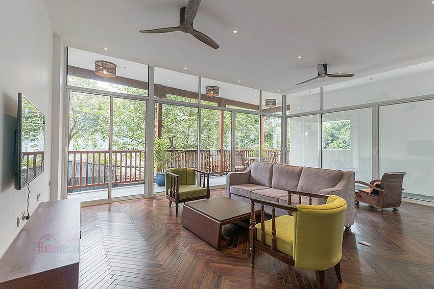 Peaceful apartment in Xom Chua - Tay Ho with green view, 04 bedrooms 4