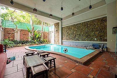 Pool house on To Ngoc Van, 4 bedrooms, large front courtyard