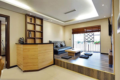 Pretty, Japanese style 02 bedroom apartment for rent in Lieu Giai street