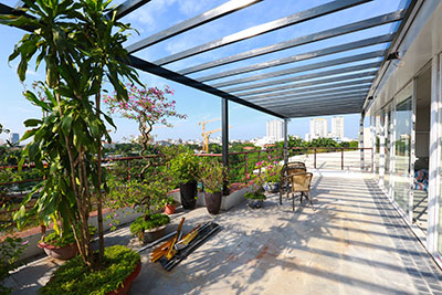 RENOVATING lake front 04BBRs apartment on Quang Khanh, nice terrace