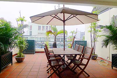 Rental Luxury Penthouse Serviced Apartment in Central Hanoi, 300m2 living area