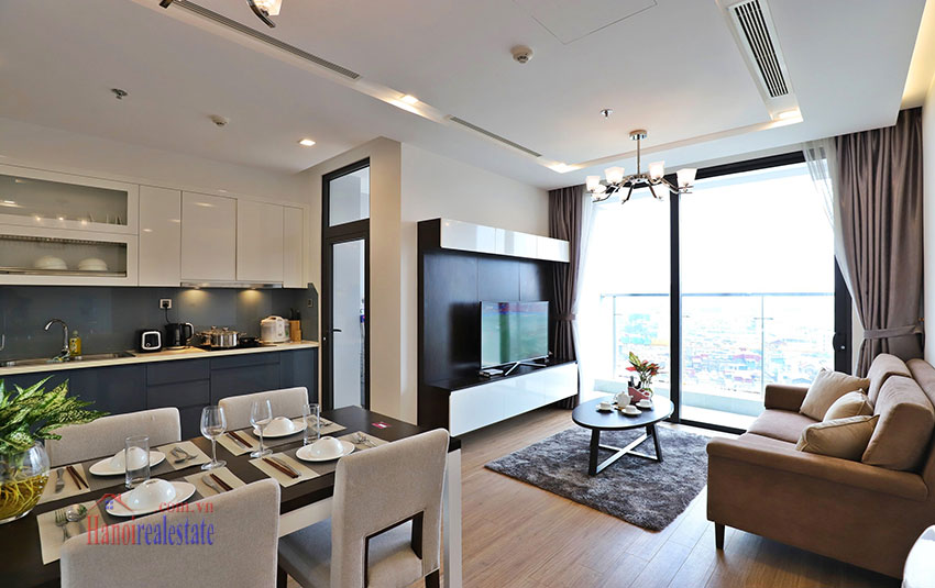Semi classical 02 bedroom apartment in M2 Tower, Vinhomes Metropolis 2