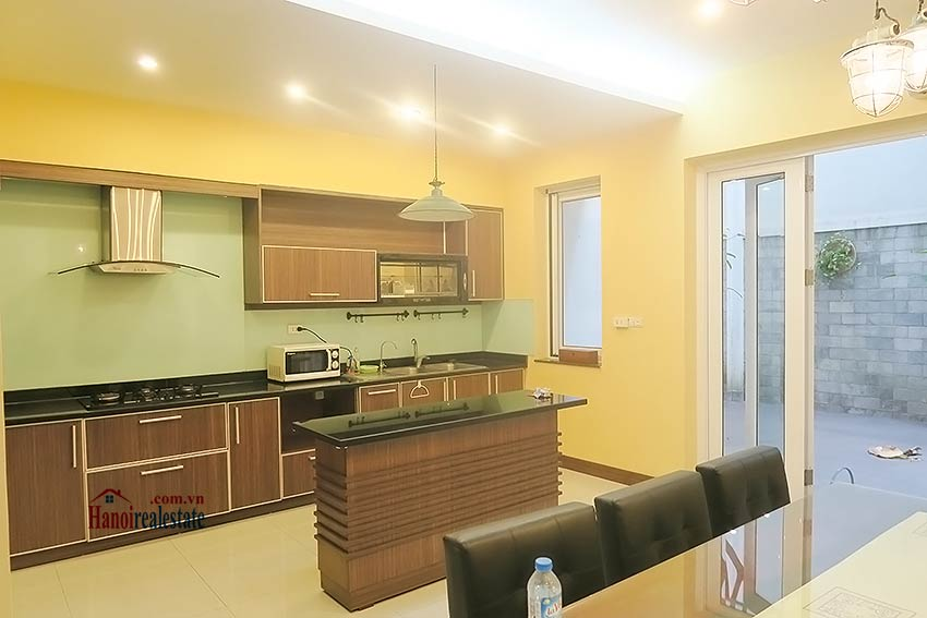 Semi furnished 03 bedroom house to let in Hai Ba Trung with nice courtyard 13