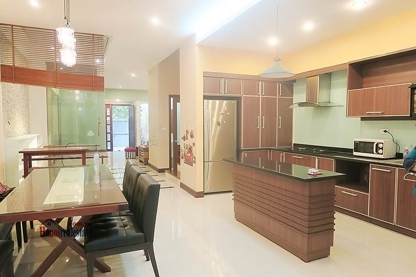 Semi furnished 03 bedroom house to let in Hai Ba Trung with nice courtyard 14