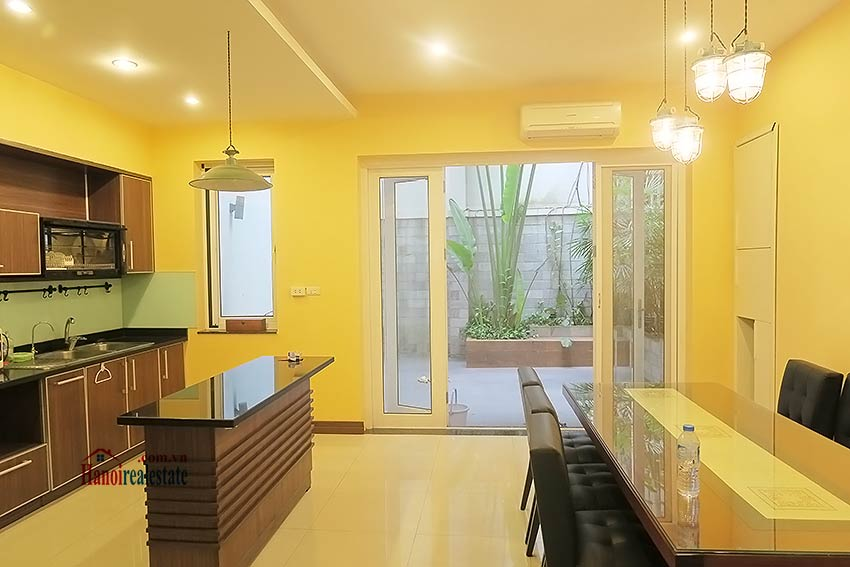 Semi furnished 03 bedroom house to let in Hai Ba Trung with nice courtyard 15