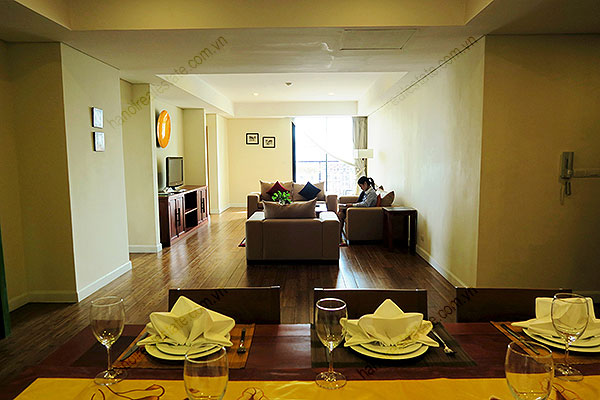 Serviced apartment at Pacific Place Hanoi, 3 bedrooms, furnished 1