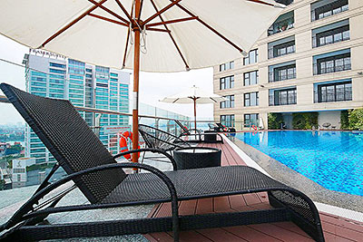 Shocking priced apartment at D'. Le Roi Soleil, with outdoor and indoor pool