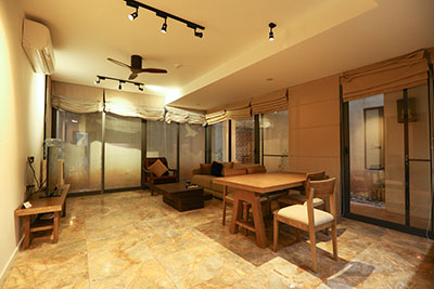 Spacious and quite 02 bedroom apartment on Xom Chua Street, cozy design