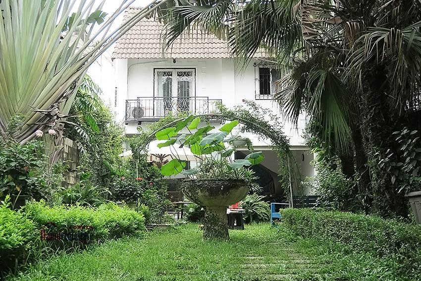 Spacious garden charming 3-bedroom house in Tay Ho to rent 2