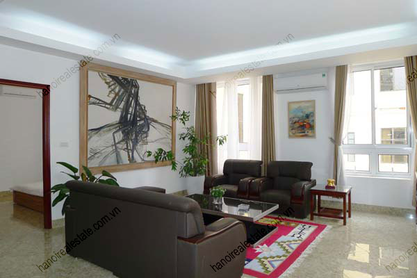 Spacious modern 2 bed apartment for rent in Lang Ha Hanoi 1