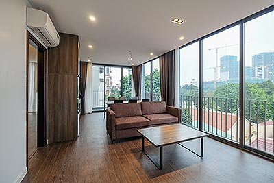 Sparkling new minimalist modern style 2 bedrooms apartment on To Ngoc Van