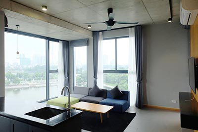 Stunning lake view 02BRs apartment to let in Ho Ba Mau near French hospital