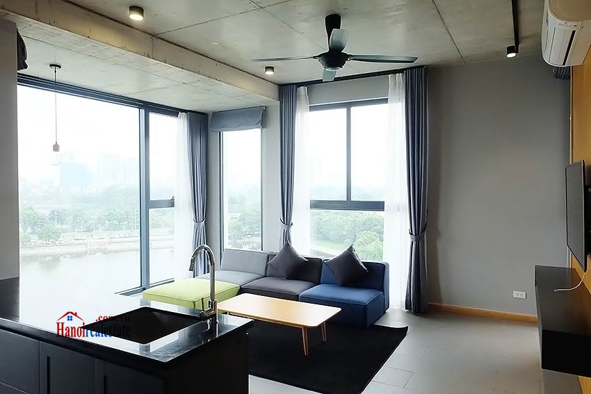 Stunning lake view 02BRs apartment to let in Ho Ba Mau near French hospital 1