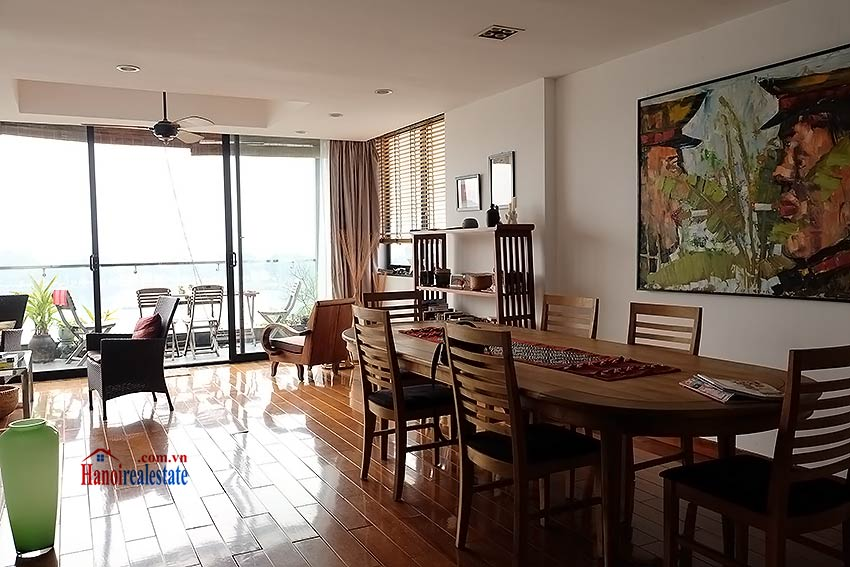 Stunning lake view, awesome 03BRs penthouse to rent in Truc Bach, big balconies 10