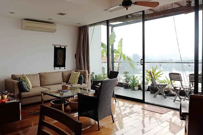 Stunning lake view, awesome 03BRs penthouse to rent in Truc Bach, big balconies 7